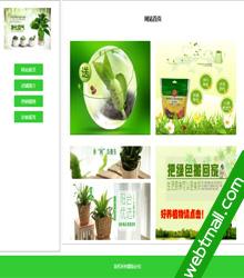 室内绿色植物主题网页设计作业成品