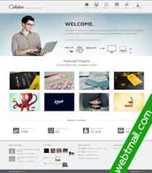 Bootstrap css3动画商务宽屏科技网页设计作业成品模板