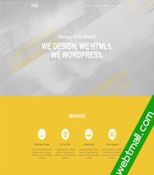 Five精品漂亮bootstrap单页网页设计作业成品模板