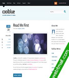 浅蓝免费网页设计作业成品