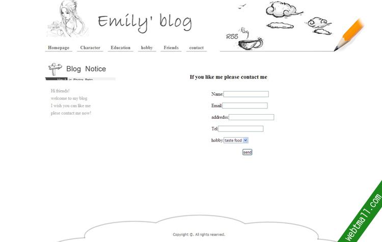简单个人期末网页作业
