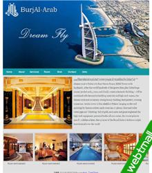英文迪拜酒店网页制作作业成品7个页面